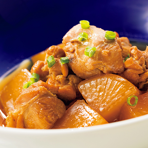 Simmered chicken and daikon radish