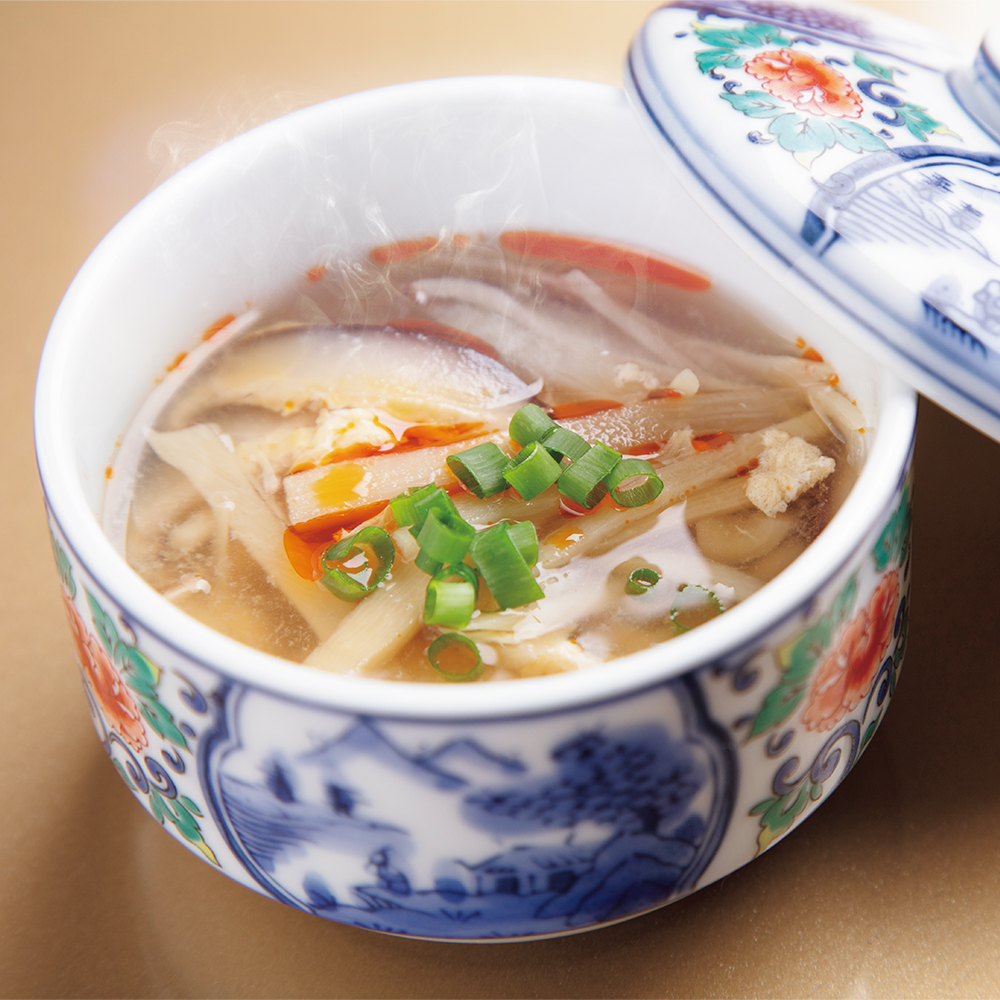 Hot and sour soup made with pure honey vinegar